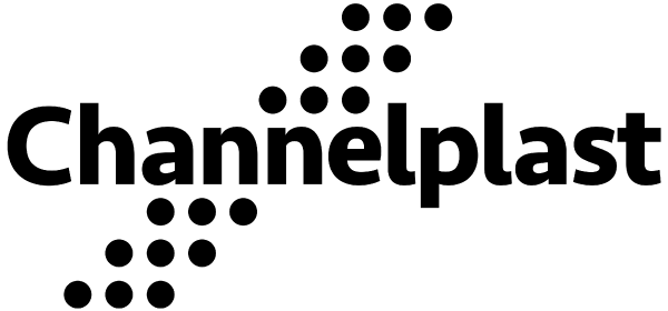 Channelplast. Brand center. Logo. Black. Transparent. PNG