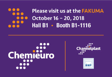 Chemieuro. FAKUMA. October 16-20 2018 Hall B1 Booth B1-1116