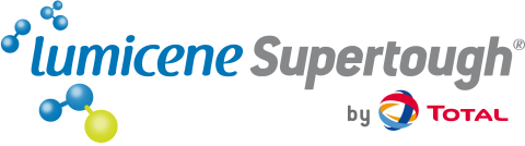 Chemieuro. Total Polymers. Logo Lumicene Supertough